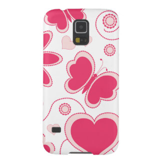 Colección de los corazones y de las flores de Emma Funda Para Galaxy S5