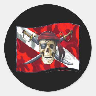 Colección de los cráneos por DiversDen Pegatina Redonda