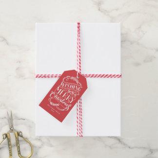 Colección de los deseos del navidad etiquetas para regalos