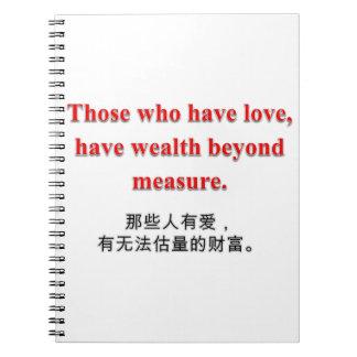 Colección del amor y de la riqueza - cuaderno