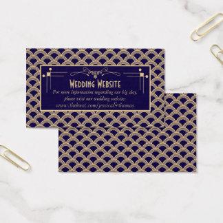 Colección del boda de Gatsby del art déco de los Tarjeta De Visita