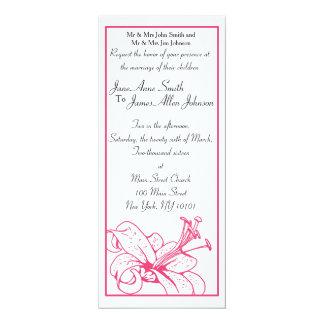 Colección del boda del lirio y de la linterna, invitación 10,1 x 23,5 cm