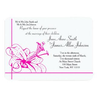 Colección del boda del lirio y de la linterna, invitación 12,7 x 17,8 cm