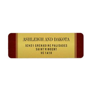 Colección del boda y capa marrón elegantes del oro etiqueta de remite