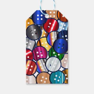 Colección del botón del color etiquetas para regalos