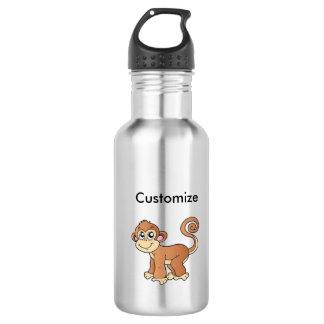 Colección del mono botella de agua