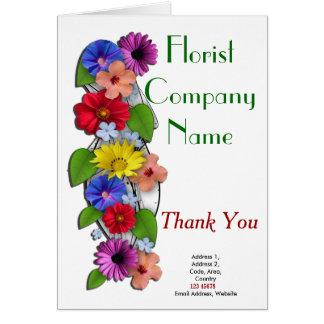 Colección del tema del negocio del florista tarjeta de felicitación
