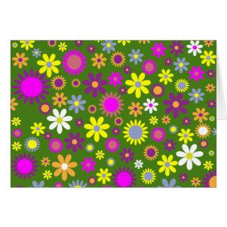Colección diseñada floral del amor del Hippie Tarjeta De Felicitación