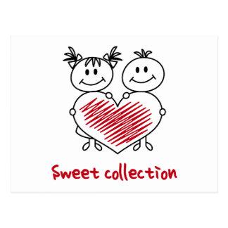 colección dulce del amor postal