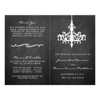 Colección elegante del boda de la pizarra de la folleto 21,6 x 28 cm