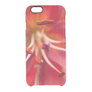 colección floral. rojo funda transparente para iPhone 6/6s