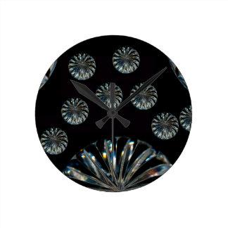 Colección irlandesa del cristal del Diseño- Reloj Redondo Mediano