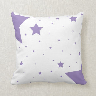 Colección púrpura de la estrella cojín decorativo