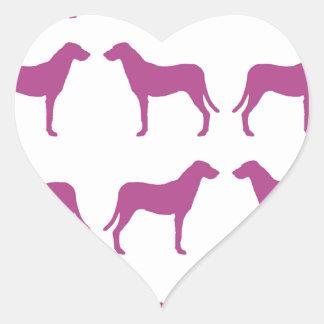 Colección púrpura del perro de caza de Emma Colcomanias De Corazon Personalizadas