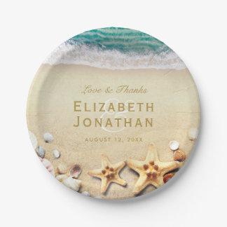 Colección tropical del boda de las estrellas de plato de papel