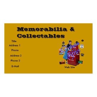 Coleccionable de los objetos de recuerdo tarjeta de negocio