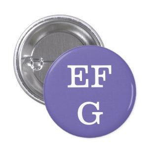 """Coleccionable del alfabeto de """"EFG"""" (#6) Chapa Redonda De 2,5 Cm"""