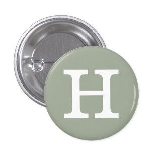 """Coleccionable del alfabeto de """"H"""" (#8) Chapa Redonda De 2,5 Cm"""