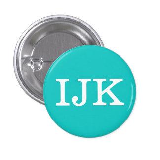 """Coleccionable del alfabeto de """"IJK"""" (#9) Chapa Redonda De 2,5 Cm"""