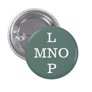 """Coleccionable del alfabeto de """"L MNOP"""" (#11) Chapa Redonda De 2,5 Cm"""