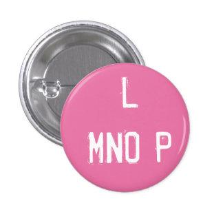 """Coleccionable del alfabeto de """"L MNOP"""" (#12) Chapa Redonda De 2,5 Cm"""