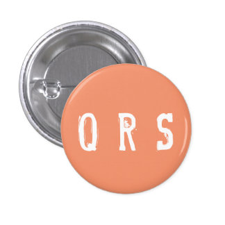 "Coleccionable del alfabeto de ""QRS"" (#14) Chapa Redonda De 2,5 Cm"