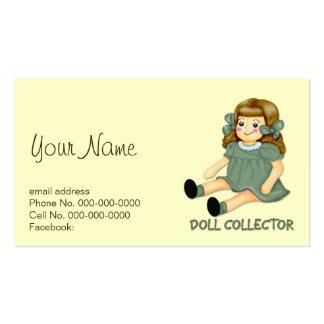 Colector de la muñeca tarjetas de visita