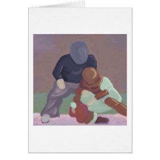Colector del béisbol, tarjeta de felicitación
