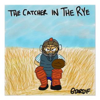 Colector en el poster del béisbol de Rye