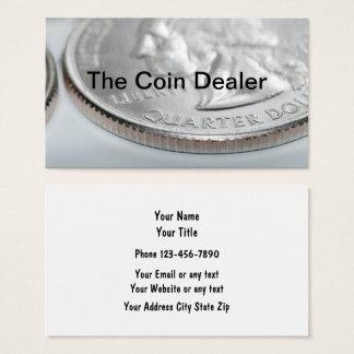Colector y distribuidor autorizado de moneda tarjeta de negocios