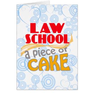 Colegio de abogados - pedazo de torta tarjeta de felicitación