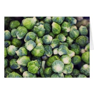 Coles de Bruselas frescas verdes claras Tarjeta De Felicitación