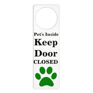 Colgador Para Puerta El interior del mascota guarda la suspensión