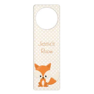 Colgador Para Puerta Fox adorable del dibujo animado con el fondo del