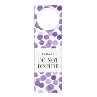 Colgador Para Puerta Modelo de puntos púrpura grande