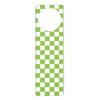 Colgador Para Puerta Modelo del tablero de damas del verde amarillo