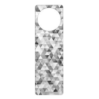 Colgador Para Puerta Modelo gris del triángulo