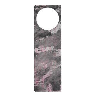 Colgador Para Puerta Tinta negra en el Highlighter rosado