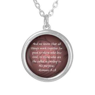 Colgante cristiano del verso de la biblia del 8:28