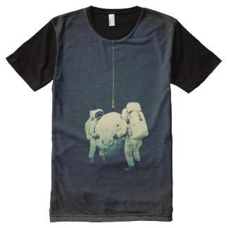 colgante de la luna camisetas con estampado integral