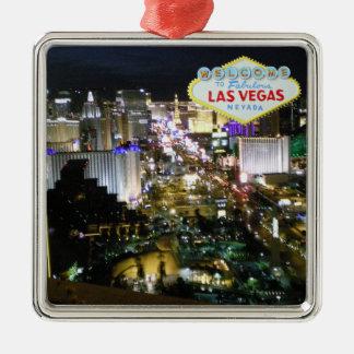 Colgante de Las Vegas Boulevard Adorno Cuadrado Plateado