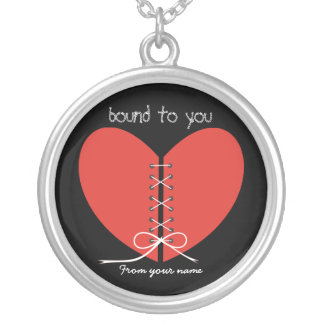 Colgante de plata de encargo del corazón de dos