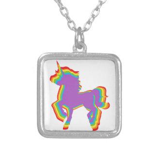 Colgante del collar del unicornio del arco iris
