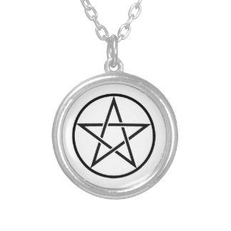Colgante pagano del Pentagram del collar de Wiccan