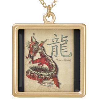 Colgante personalizado dragón rojo chino