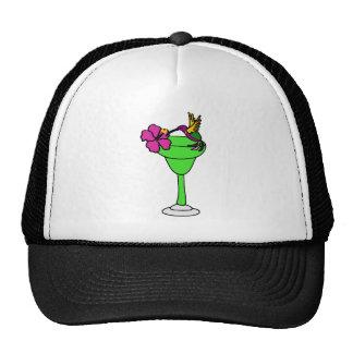 Colibrí e hibisco divertidos en la bebida de Marga Gorras