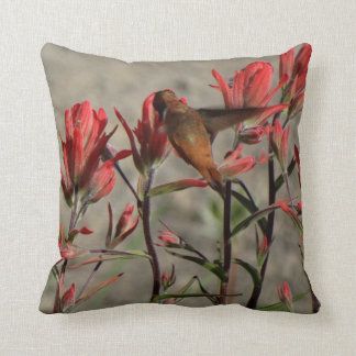 colibrí flw. cardinal cojín decorativo