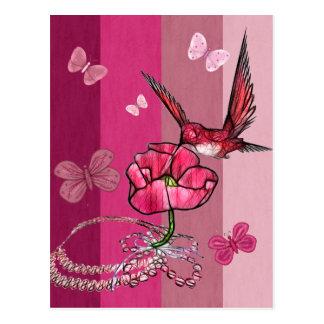 colibrí postales