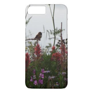 colibrí verde lindo en la oscuridad funda iPhone 7 plus