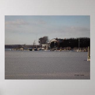 Colina congelada del reloj, poster de Rhode Island